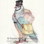 Zeichnungen und Illustrationen Jens Thomas Franke - Brieftaube