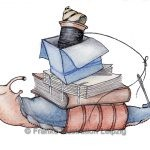 Zeichnungen und Illustrationen Jens Thomas Franke - Buchbinderschnecke