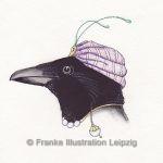 Zeichnungen und Illustrationen Jens Thomas Franke - Die Elster