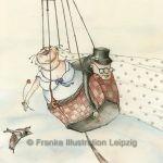 Zeichnungen und Illustrationen Jens Thomas Franke - Hochzeitspaar