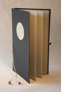 Buchbinderarbeiten - Leporello Papierbezug-geöffnet