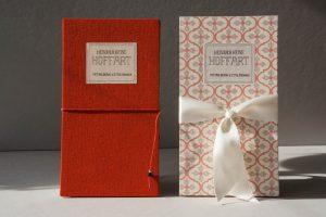 Buchbinderarbeiten - Leporellobücher, Leinen- oder Papierbezug