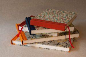 Gebrauchsgraphik - Notizbücher - Papierbezug, Rücken Leinwand