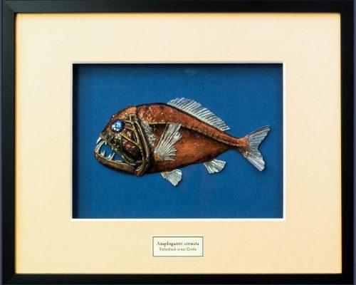 Gebrauchsgraphik - Papierplastik 'Tiefseefisch'